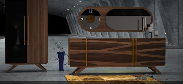 Trabcelona Design – wawe konsol: modern tarz Yemek Odası