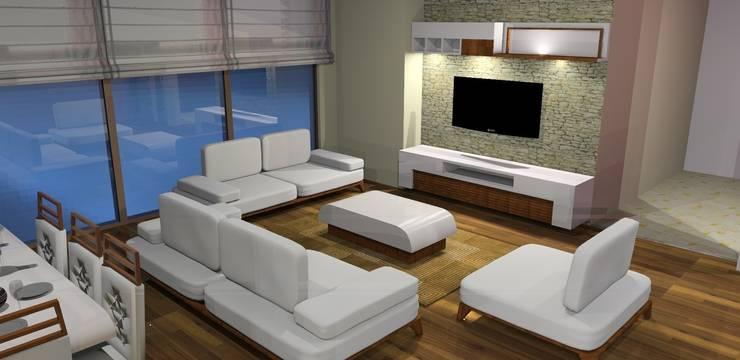 Trabcelona Design – proje çalışması:  tarz Oturma Odası