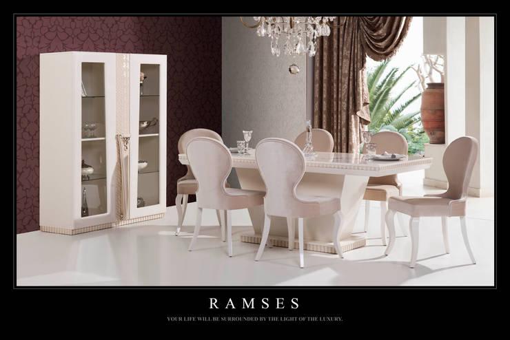 Trabcelona Design – Ramses yemek odası:  tarz Yemek Odası