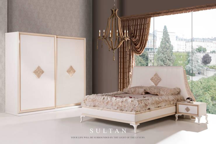 Trabcelona Design – Sultan yatak odası :  tarz Yatak Odası