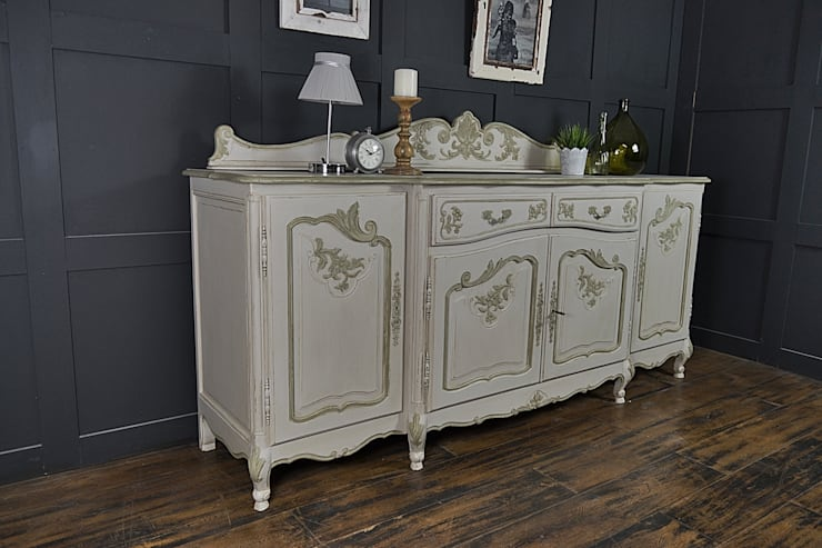 4 Door Shabby Chic French Sideboard:  Dining room by The Treasure Trove Shabby Chic & Vintage Furniture