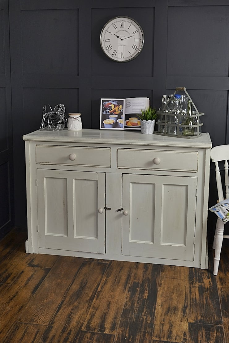 2 Door Pastel Green Shabby Chic Farmhouse Cupboard:  Kitchen by The Treasure Trove Shabby Chic & Vintage Furniture
