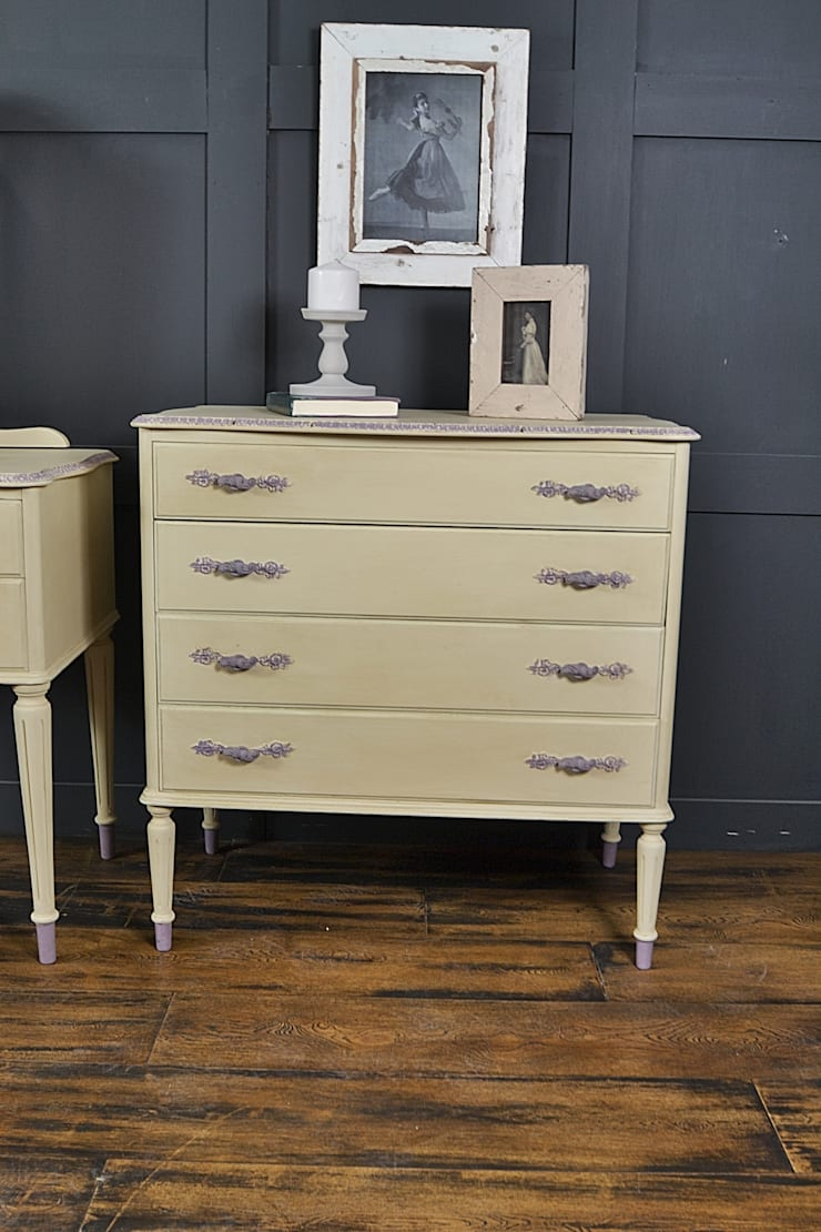 Cream French Louis Chest of Drawers :  Bedroom by The Treasure Trove Shabby Chic & Vintage Furniture