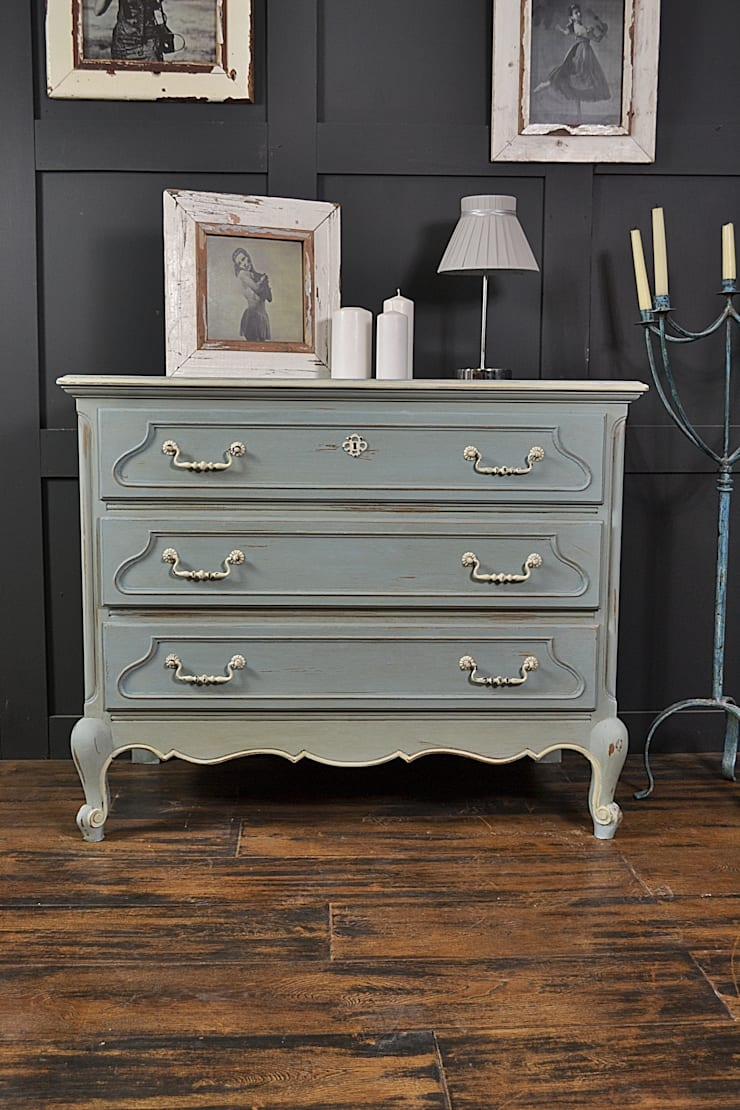 French Blue White Oak Chest Of Drawers By The Treasure