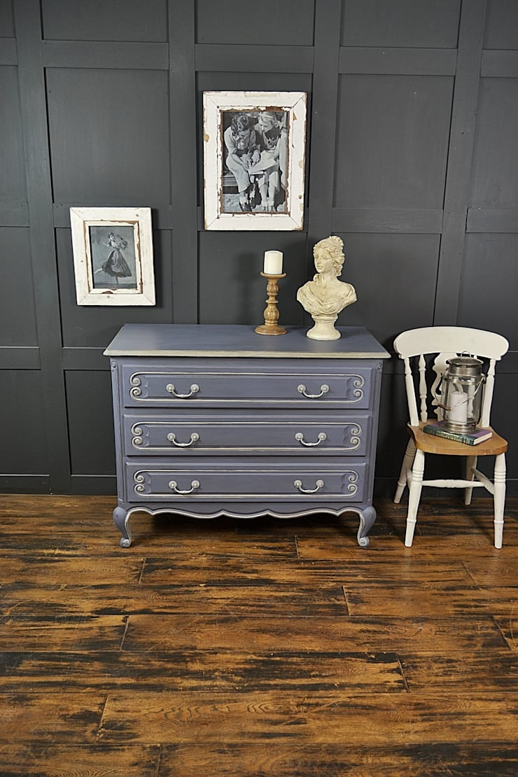 Large French Shabby Chic Chest of Drawers:  Bedroom by The Treasure Trove Shabby Chic & Vintage Furniture