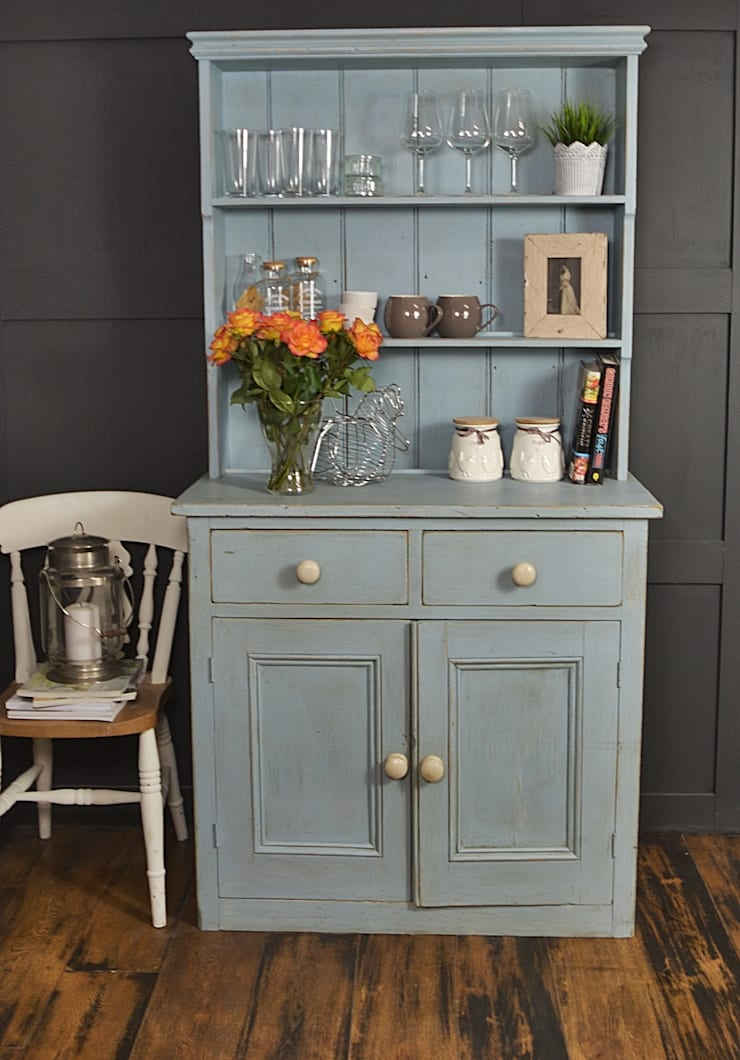 Blue Shabby Chic Victorian Kitchen Dresser:  Kitchen by The Treasure Trove Shabby Chic & Vintage Furniture