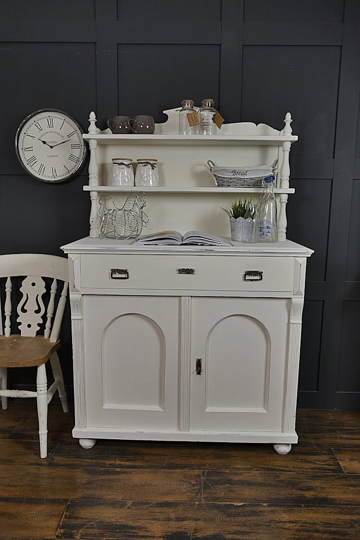 Painted White Shabby Chic Kitchen Dresser :  Kitchen by The Treasure Trove Shabby Chic & Vintage Furniture