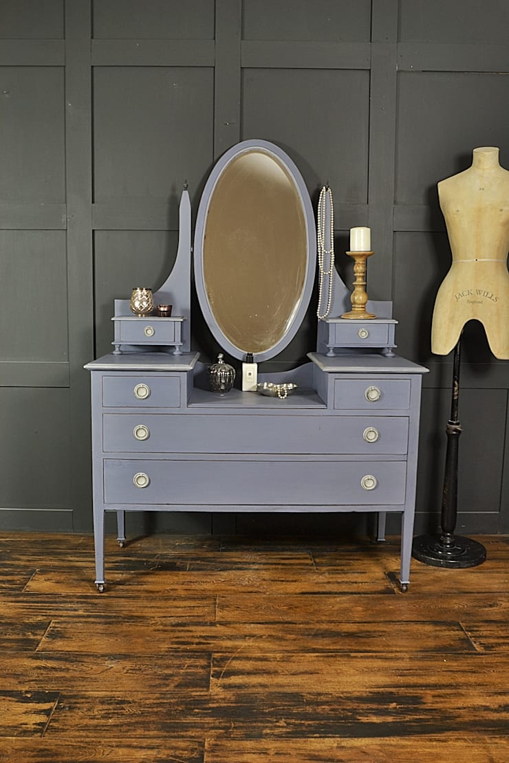 Edwardian Old Violet Dressing Table:  Bedroom by The Treasure Trove Shabby Chic & Vintage Furniture