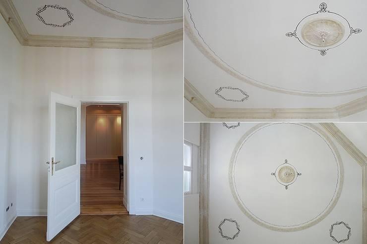 Details der Decke mit Stuck und Malerei:  Wände von GESSNER HEYNE ARCHITEKTEN INGENIEURE