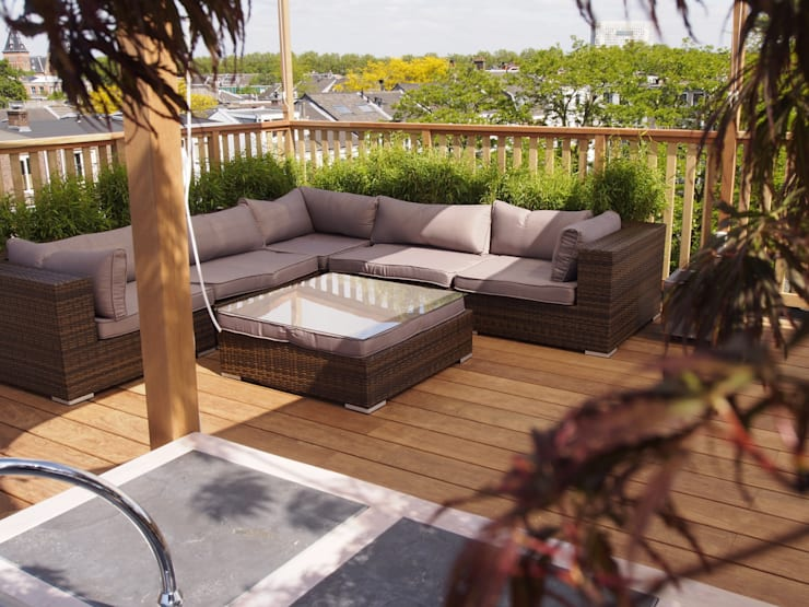Inrichting dakterras:  Balkon, veranda & terras door ScottishCrown Dakterrassen