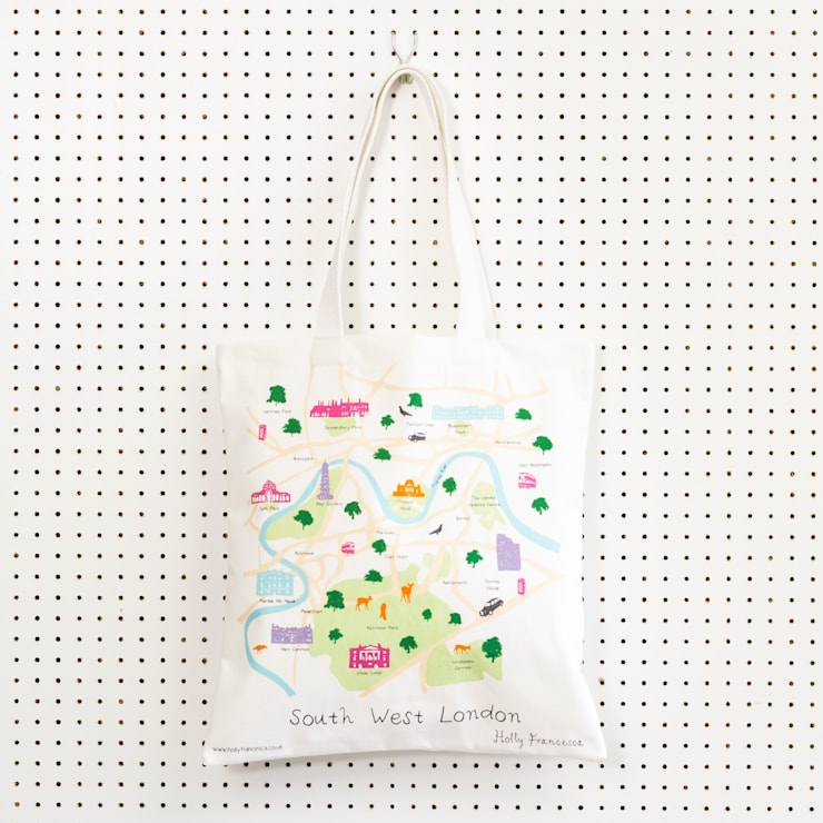 South West London - Screenprinted tote bag:  Household by Holly Francesca