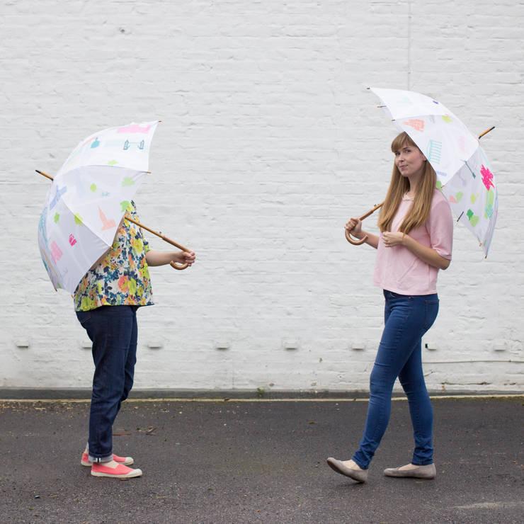 Map of London Umbrella:  Corridor, hallway & stairs by Holly Francesca