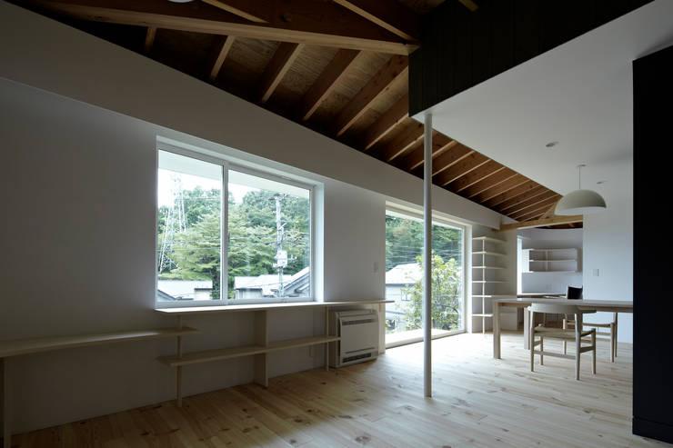 陽傘の家: 池田雪絵大野俊治 一級建築士事務所が手掛けたリビングです。