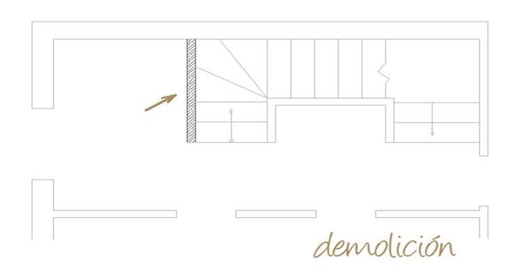 Plano de actuaciones. Demolición:  de estilo  de A H Decoración e interiorismo