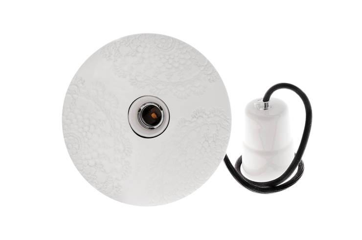 Lampa Loft z Folkiem trzy koronki white: styl , w kategorii Kuchnia zaprojektowany przez Inżynieria Designu