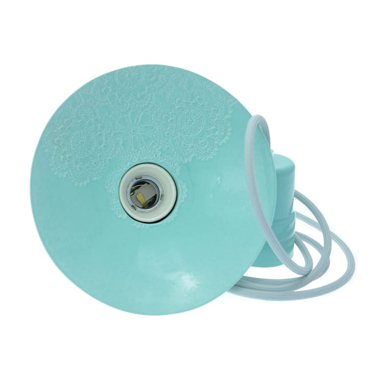 Lampa Loft z Folkiem barok pastelowy błękit: styl , w kategorii Pokój dziecięcy zaprojektowany przez Inżynieria Designu