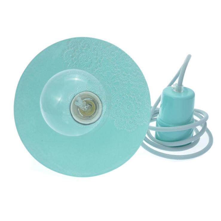 Lampa Loft z Folkiem barok pastelowy błękit: styl , w kategorii Kuchnia zaprojektowany przez Inżynieria Designu