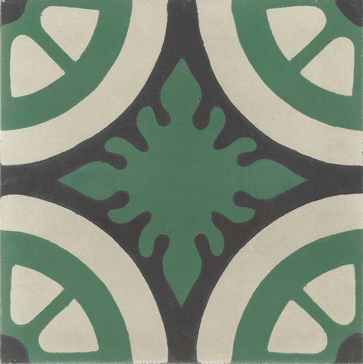 EMILIANO - cementowe płytki podłogowe: styl , w kategorii Ściany i podłogi zaprojektowany przez Kolory Maroka,