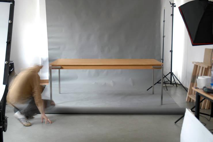 Just Table (sh4eg) extra long: styl , w kategorii Jadalnia zaprojektowany przez hanczar studio