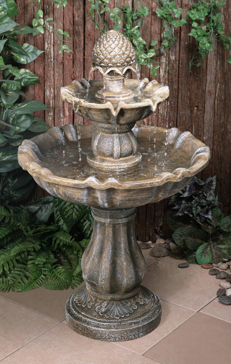 Zuvan 2 Tier Water Fountain:  Garden  by Primrose