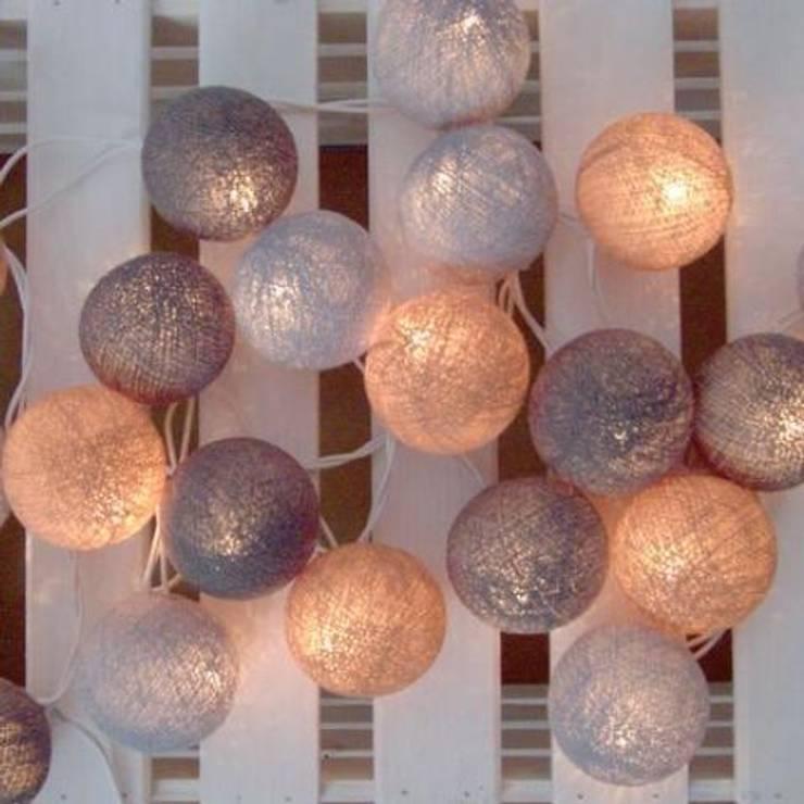 Cotton balls light - szarości i beże: styl , w kategorii  zaprojektowany przez Qule,Nowoczesny