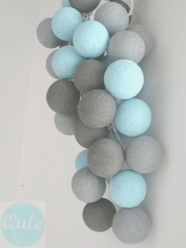 Cotton ball lights: styl , w kategorii  zaprojektowany przez Qule,Nowoczesny
