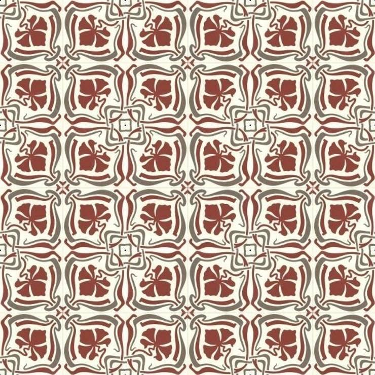 FERNANDEZ - cementowe płyki podłogowe : styl , w kategorii Ściany i podłogi zaprojektowany przez Kolory Maroka