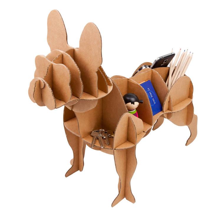 """Perro de Cartón """"Bulldog Francés"""": Hogar de estilo  de Milimetrado"""