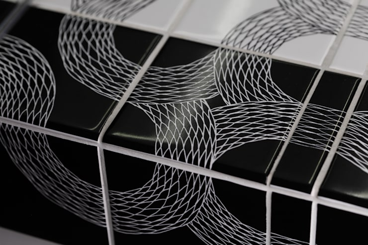 Ouroboros Tile installation at Canada Water Cafe, London:  Gastronomy by Peter Ibruegger Studio