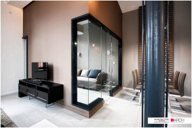 LOFT z widokiem: styl , w kategorii Domowe biuro i gabinet zaprojektowany przez Borowczyk Architekci,