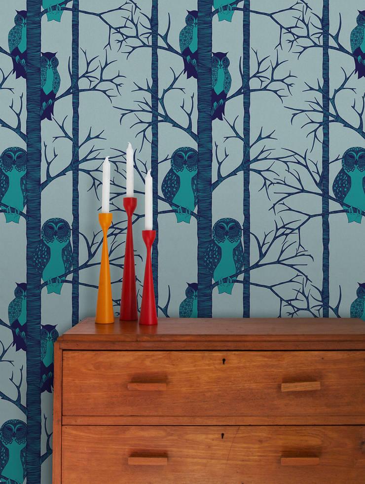 The Owls , Wallpaper :  Walls & flooring by Camilla Meijer