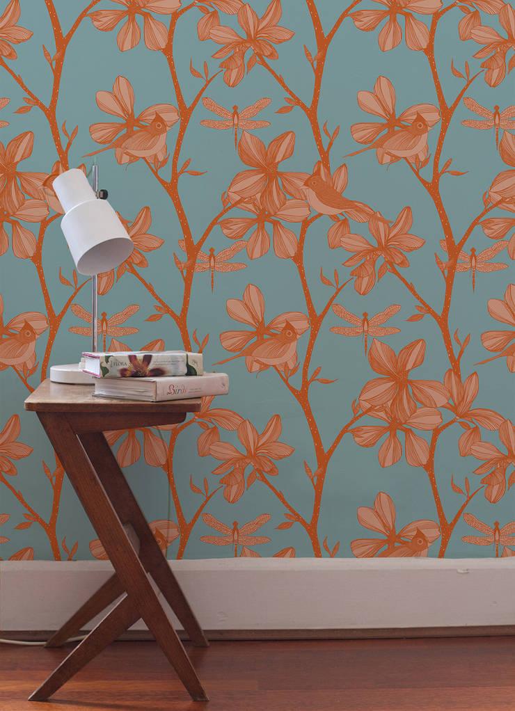 The English Garden, Wallpaper :  Walls & flooring by Camilla Meijer