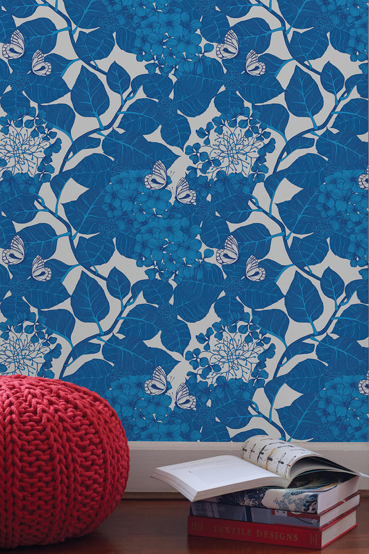 Hydrangea Garden, Wallpaper :  Walls & flooring by Camilla Meijer