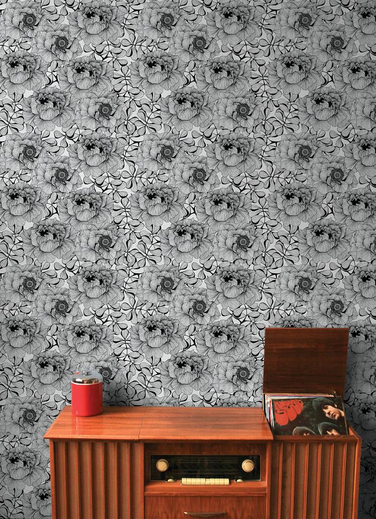 Rose Flower, Wallpaper :  Walls & flooring by Camilla Meijer