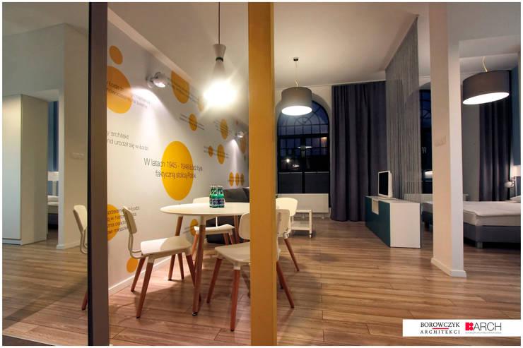 DVUPAK - loft VIVID: styl , w kategorii Jadalnia zaprojektowany przez Borowczyk Architekci