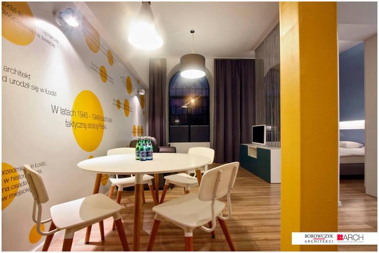 DVUPAK – loft VIVID: styl , w kategorii Jadalnia zaprojektowany przez Borowczyk Architekci