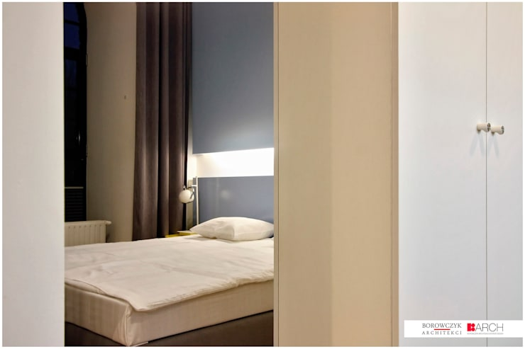 DVUPAK – loft VIVID: styl , w kategorii Sypialnia zaprojektowany przez Borowczyk Architekci