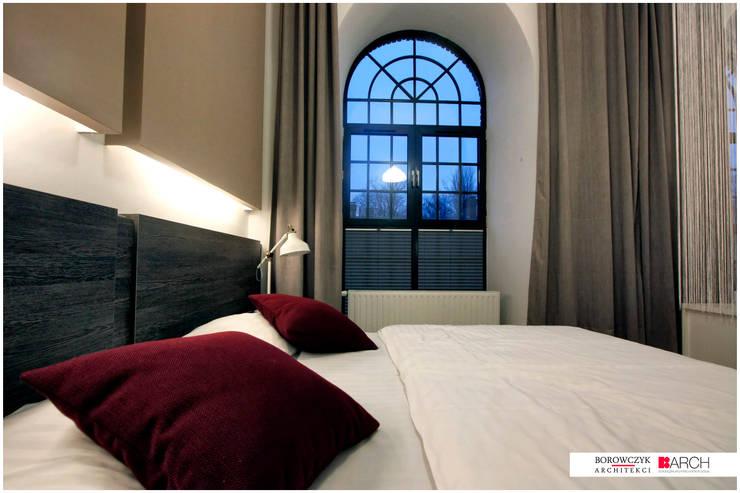 DVUPAK – loft MOODY: styl , w kategorii Sypialnia zaprojektowany przez Borowczyk Architekci