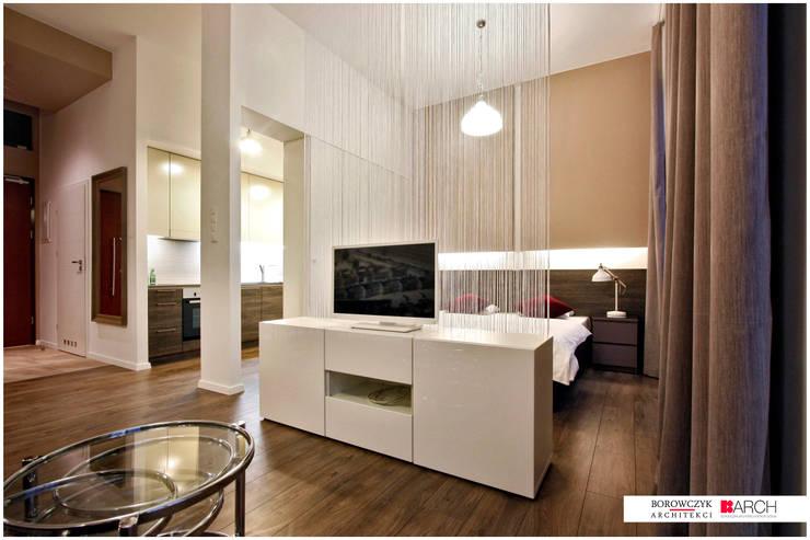DVUPAK – loft MOODY: styl , w kategorii Salon zaprojektowany przez Borowczyk Architekci