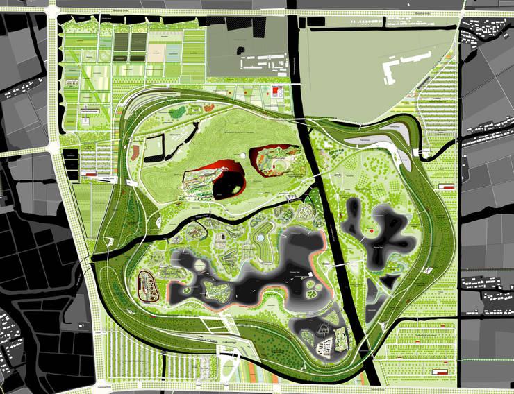 Masterplan © Planungsgruppe Valentien:   von Valentien + Valentien Landschaftsarchitekten Stadtplaner
