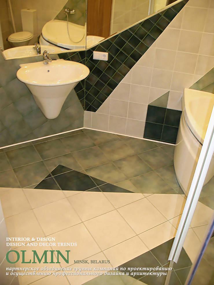 Праздник в Ванной: Ванные комнаты в . Автор – ИП OLMIN - Архитектурная студия Олега Минакова