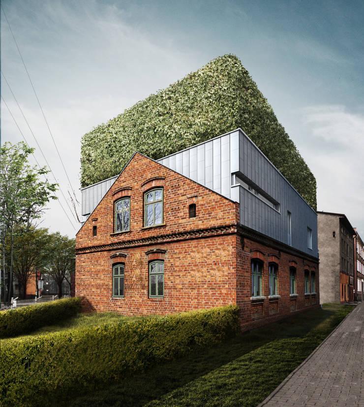 URBAN SANDWICH: styl , w kategorii Domy zaprojektowany przez Zalewski Architecture Group