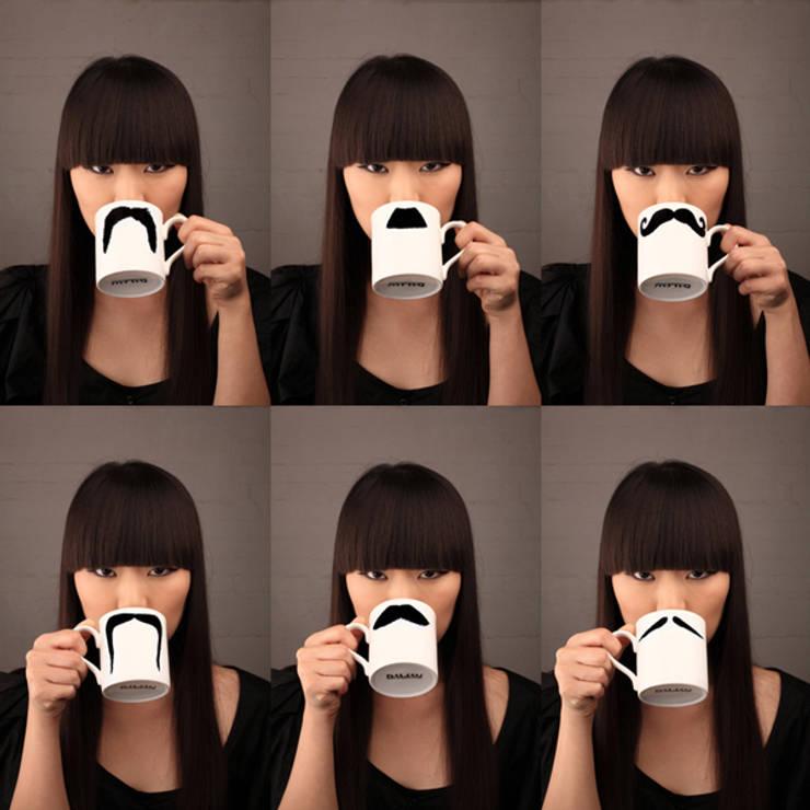 Original Moustache Mugs - Set of 3:  Kitchen by Peter Ibruegger Studio
