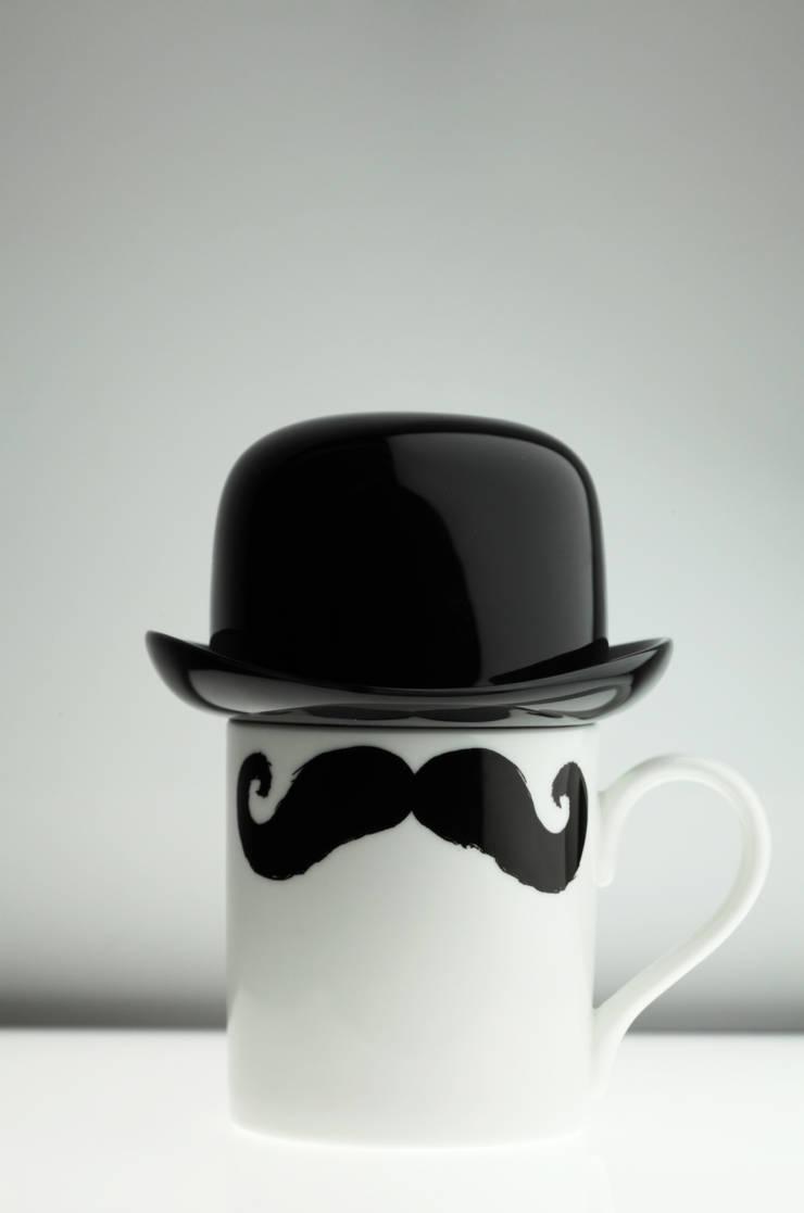 Original Moustache Mug and Bowler Hat Set - Maurice Poirot:  Kitchen by Peter Ibruegger Studio