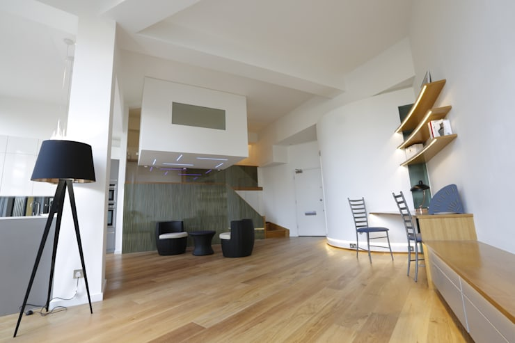 Bankside SE1:  Living room by Set Square