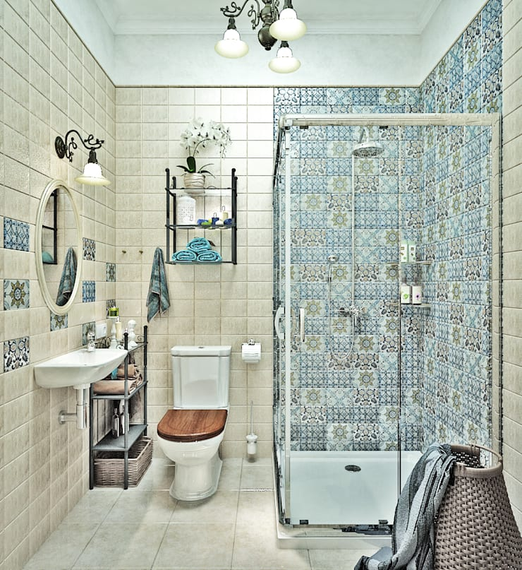 Ванная комната с орхидеями: Ванные комнаты в . Автор – Студия дизайна Interior Design IDEAS