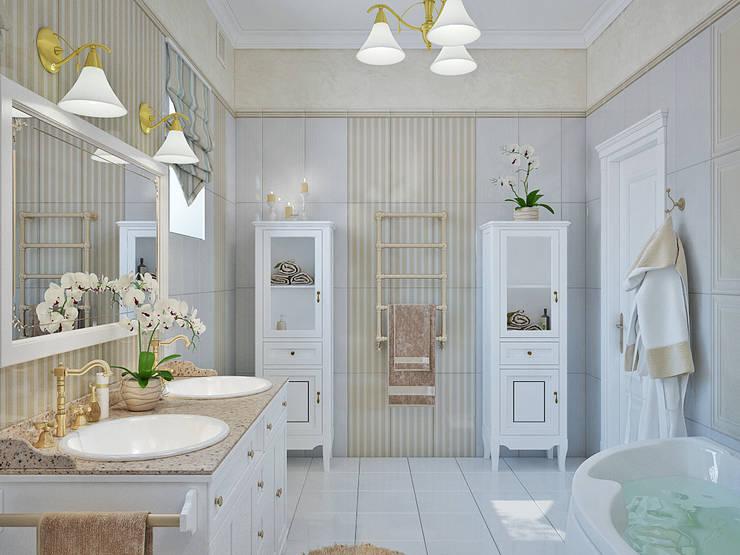 Casas de banho modernas por Студия дизайна Interior Design IDEAS
