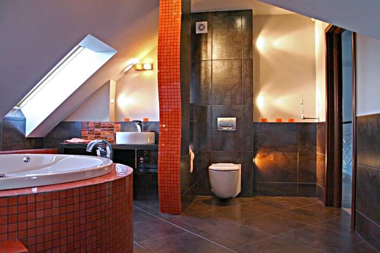 łazienka: styl , w kategorii  zaprojektowany przez FIRMAMENT arch.Renata Kula,