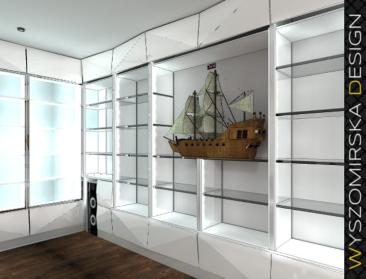 Modern Office Design: styl , w kategorii Domowe biuro i gabinet zaprojektowany przez wyszomirska design,Nowoczesny