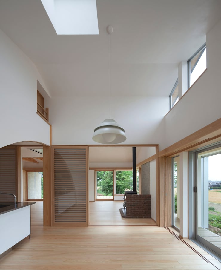 庚申堂の家 オリジナルデザインの ダイニング の ろく設計室 オリジナル